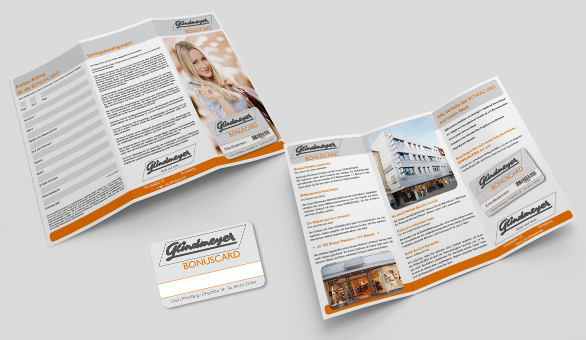 Flyer Bonuscard Glindmeyer | pixeldeern